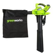 Листодув-пылесос GreenWorks GD40BVK2X